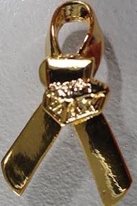 Gold Ribbon Pin