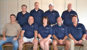 (Left-right): Sponsors Hal Schwartz and Larry Howard along with Mokena Community Park District Foundation Members Dennis Bagdon, Dan Seibt, Patti Parli, Mike Cesta, Jim VanGennep, Jim Romanek and Mokena Community Park Foundation President John Olivieri.